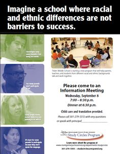 Removing Racial And Ethnic Barriers To Student Achievement Sample FlyersPublic