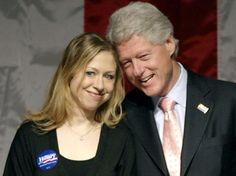 President Bill Clinton and daughter Chelsea