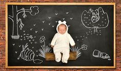 Baby Goes on Adorable Blackboard Adventures (13 Pics)   Pleated-Jeans.com
