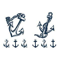 Fashion Anchor Pattern Waterproof Tattoo Sticker For Women