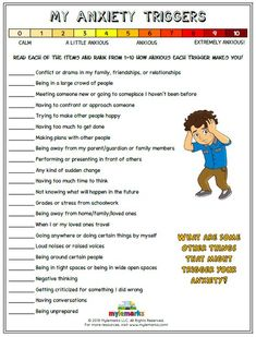Therapeutic worksheets focused on helping kids and teens explore feelings of anxiety. Tools assist kids in identifying anxiety triggers, healthy coping skills, and positive ways to relieve stress. Counseling Activities, Therapy Activities, School Counseling, Anger Management Activities, Anxiety Activities, Cbt Therapy, Anxiety Therapy, Stress Counseling, Social Work Activities