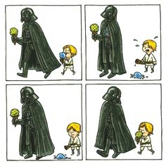 New Picture Book Darth Vader and Son is Melting Our Dark Sith Heart (Excerpt) Star Wars Fan Art, Star Wars Meme, Star Wars Comics, Star Trek, Darth Vader Y Su Hijo, Darth Vader And Son, Dark Sith, Starwars, Good Good Father