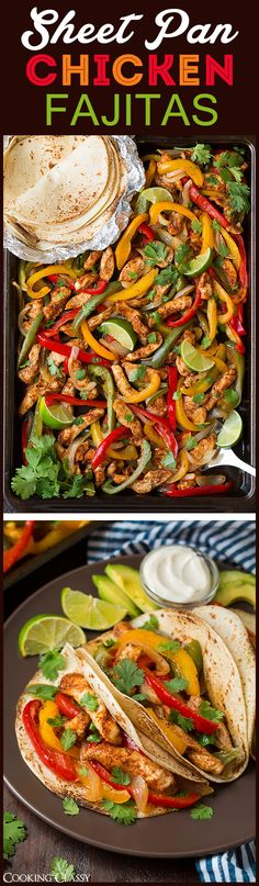 Sheet Pan Fajitas - easy clean up, DELICIOUS flavor! Everyone loved these…