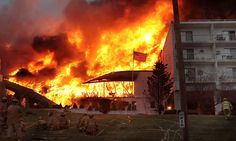 The Dirty Dancing Hotel goes up in flames.