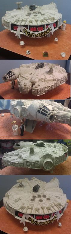 A Marvelous Millennium Falcon Wedding Cake...