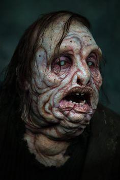 "midnightmurdershow: ""Innsmouth by joelharlow "" Cthulhu, Creepy Horror, Horror Art, Creature Concept Art, Creature Design, Post Apocalypse, Monster Makeup, Movie Makeup, Fantasy Rpg"