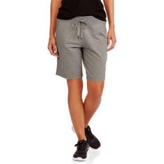Athletic Works Women\'s Active French Terry Bermuda Shorts, Size: Medium, Gray