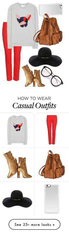 """Unique but Casual"" by jnoelleh on Polyvore featuring Alexander McQueen, Être Cécile, Gianvito Rossi, Eugenia Kim, Zero Gravity and Yves Saint Laurent"