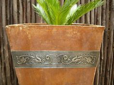 Pewter Decorated Planters