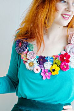 Free sewing pattern | How to make fabric flowers 2 | Mollie Makes