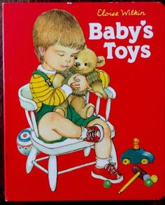 Baby's Toy's ~ Ultra Rare Eloise Wilkin Children's Board Book ~ Grosset & Dunlap