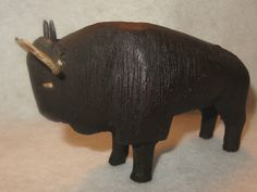 Antique Hand Crafted Water Buffalo Carving Wooden