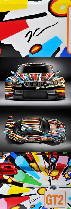 Art Car by Jeff Koons Rides- We cover the world over 220 countries, 26 languages and 120 currencies Hotel and Flight deals.guarantee the best price(Best Paint Schemes) Le Mans, Supercars, Suv Bmw, Bmw M3, Jaguar, Los Cars, Bavarian Motor Works, Automobile, Automotive Design