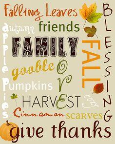 Fall / Thanksgiving Subway Art