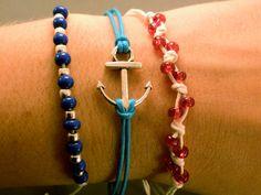 Anchor Bracelet Set Nautical Themed Bracelet by CraftsbyBrittany, $11.00