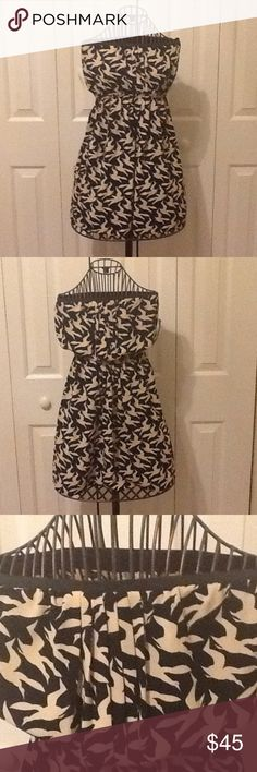 NWT Rachel Roy bird print mini dress Cute and quirky bird print dress by Rachel Roy. Adorable pleated detail on the front and side zipper. Please see the last two photos. There is a small gap at the top where the side zipper doesn't completely go up. RACHEL Rachel Roy Dresses Mini