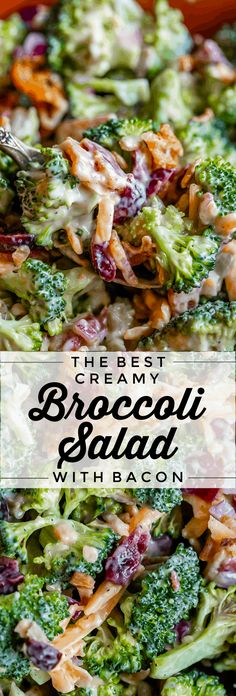 Easy Broccoli Bacon Salad from The Food Charlatan