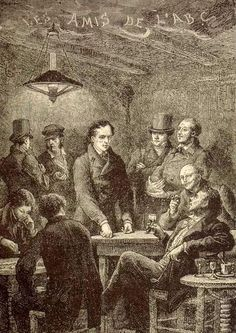 """The Friends of the ABC (French: Les Amis de l'ABC) is a fictional association of revolutionary French republican students featured in Victor Hugo's Les Misérables. In French, the name of the society is a pun, in which abaissés (the """"lowly"""" / """"abased""""), is pronounced [abese], very similar to A-B-C ([ɑ be se]). They represent a wide variety of political viewpoints, but on 5 June 1832 they all join the popular insurrection known as the June Rebellion and organize the construction of a…"""