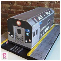 Subway Cake with working lights! #bcakeny