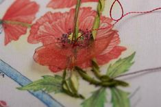 How to make Corn Poppies, over-the-top ribbon embroidery by Di van Niekerk, genius embroiderer from South Africa. Her tutorials are very thorough and clear.