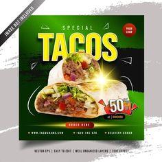 YusufSangdes | Freepik Social Media Banner, Social Media Template, Social Media Design, Bag Mockup, Phone Mockup, Modern Restaurant, Menu Restaurant, Tacos Menu, Badge Icon