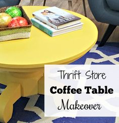 Another Thrift Store Coffee Table Makeover - Modern on Monticello