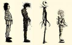 Tim Burton, Movies, Beetlejuice, Fan Art, Edward Scissorhands, Mars Attacks HD Wallpaper Desktop Background