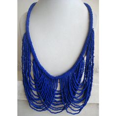 Blue Necklace/Statement Necklace/Bohemian by FootSoles on Etsy, $29.10