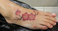 cherry tattoo - 50 Awesome Foot Tattoo Designs  <3 !