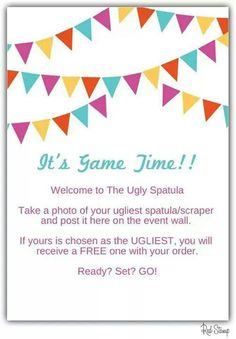 I like this game! I think I will play it at my next facebook party. Book yours today @ www.pamperedchef.biz/LindaLauas
