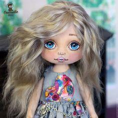 Коллекционные куклы ручной работы. Ярмарка Мастеров - ручная работа. Купить Коллекционная текстильная кукла. Handmade. Телесный текстиль, козочка
