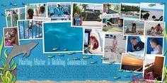 Digital Scrapbook Layout using Underwater Escape by Erica Zane