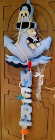 Kapı Süsü, Bebek Doğum, Hastane Odası Süslemesi, Deniz Temalı