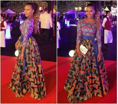 Nuvu Vlisco Long Dress african clothing african by HouseOfIzzi