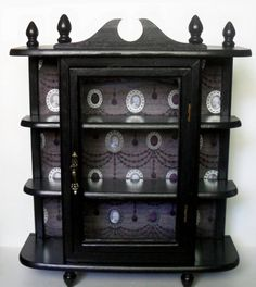 Gothic Curio Cabinet  Gothic Home Decor  Wall by NacreousAlchemy, $65.00  I could totally make this....