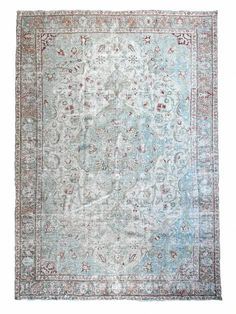 A beautiful, elegant tabriz vintage rug with a classic central medallion and a spacious surrounding field. This rug has been treated with an antique wash, softening its tones to appeal to the palette of any modern-day home. Pattern, color variation, and signs of wear with vintage items is normal. Vintage Rugs, Vintage Shops, Vintage Items, Tabriz Rug, Or Antique, Tis The Season, Colorful Rugs, 1940s, Berries