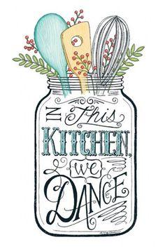 """In This Kitchen We Dance"" graphic in reverse image . Decoupage Vintage, Decoupage Paper, Diy Image, Stencils, Foto Transfer, Vintage Labels, Graphics Vintage, Free Prints, Vintage Images"
