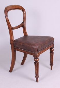 Set of Eight Victorian Oak Dining-Chairs : The British Antique Dealers' Association