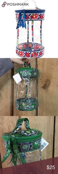 """NWT Vera Bradley Case Clear lotion case - great for cosmetics and traveling - never used - """"Cupcakes Green"""" print seen in last two photos is correct, first photo just represents the shape/style of case Vera Bradley Bags Cosmetic Bags & Cases"""