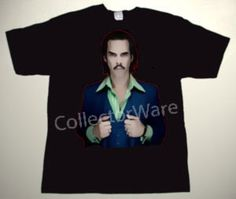 NICK CAVE drawing 4 CUSTOM ART UNIQUE T-SHIRT   Each T-shirt is individually hand-painted, a true and unique work of art indeed!  To order this, or design your own custom T-shirt, please contact us at info@collectorware.com, or visit  http://www.collectorware.com/tees-nick_cave.htm