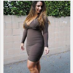 90263428e77 Mocha Colored Dress Mocha Olive Dress from Shoploveyourz. Worn only to try  on. Size