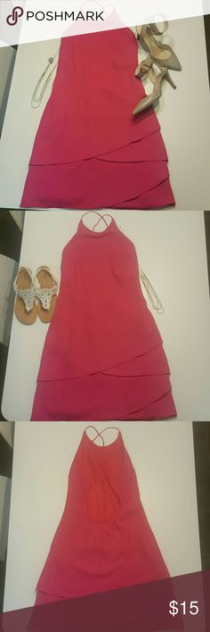 Cute pink summer dress Great summer dress for different occasions. You can wear with sandals during the day and cute heels at night. Liz minelli Dresses Backless