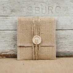 Burlap USB/Wallet Pouch - Kraft & Jute Packaging