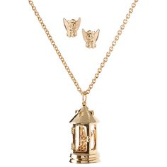 Disney Couture 14ct Gold Plated 'Tinkerbell' Lantern Pendant And Tink... ($34) ❤ liked on Polyvore featuring jewelry, earrings, necklaces, disney, jewellery wbother, womenswear, stud earrings, butterfly earrings, monarch butterfly earrings and butterfly pendants jewelry