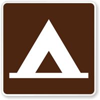 Camping (Tent) Symbol - Traffic Sign