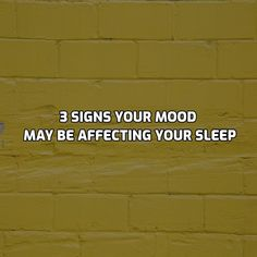"""⚡3 Signs Your Mood May Be Affecting Your Sleep 🧐⠀ .⠀ .⠀ 1. Your Switch Is Always """"On."""" 😬⠀ Do your worries play on an endless feedback loop in your brain when you climb into bed? Whether you are tossing and turning with anxious thoughts racing through your mind  or dwelling on a general feeling of negativity, the inability to shut off the pessimistic chatter in your head during night hours is a major contributor to sleep issues.  In fact, the risk of insomnia is much higher among people… Sleep Issues, Your Brain, Insomnia, Anxious, Turning, Mindfulness, Racing, Facts, Mood"""