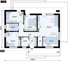 New Kitchen Cottage Decor Floor Plans Ideas Bungalow House Plans, Dream House Plans, Modern House Plans, House Floor Plans, Grey Interior Design, Interior Design Kitchen, Kitchen Decor, The Plan, How To Plan