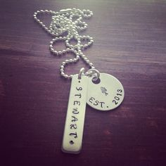 Hand Stamped Aluminum Family Necklace on Etsy, $20.00