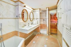 Badezimmer der Kaiserin Elisabeth Suite Alcove, Bathtub, Rooms, Bathroom, Double Room, Full Bath, Bathing, Homes, Standing Bath