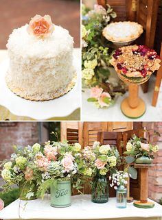 Shabby Chic Garden Tea Party Wedding Inspiration